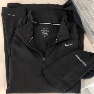 Nike Dri-Fit 1/4 zip Running shirt Men's L Gray